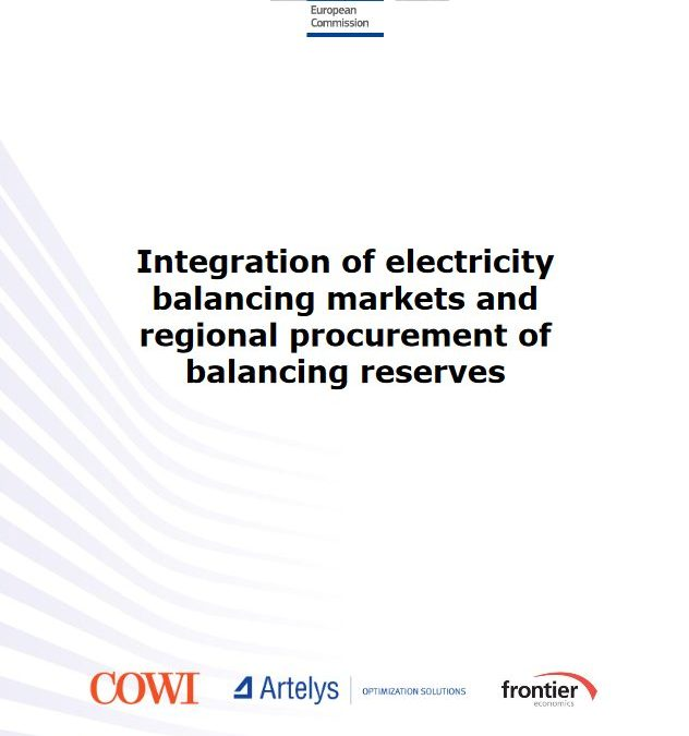 Integration of electricity balancing markets and regional procurement of balancing reserves