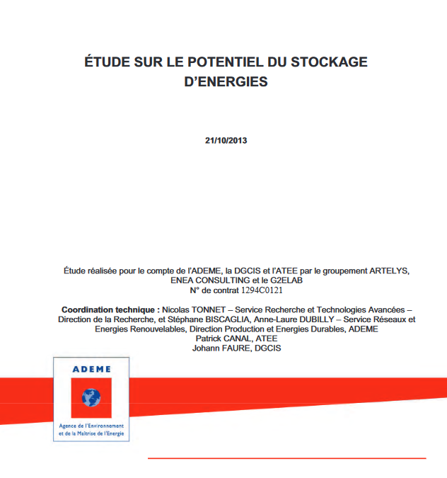 Role and Potential of Energy Storage in France in 2030