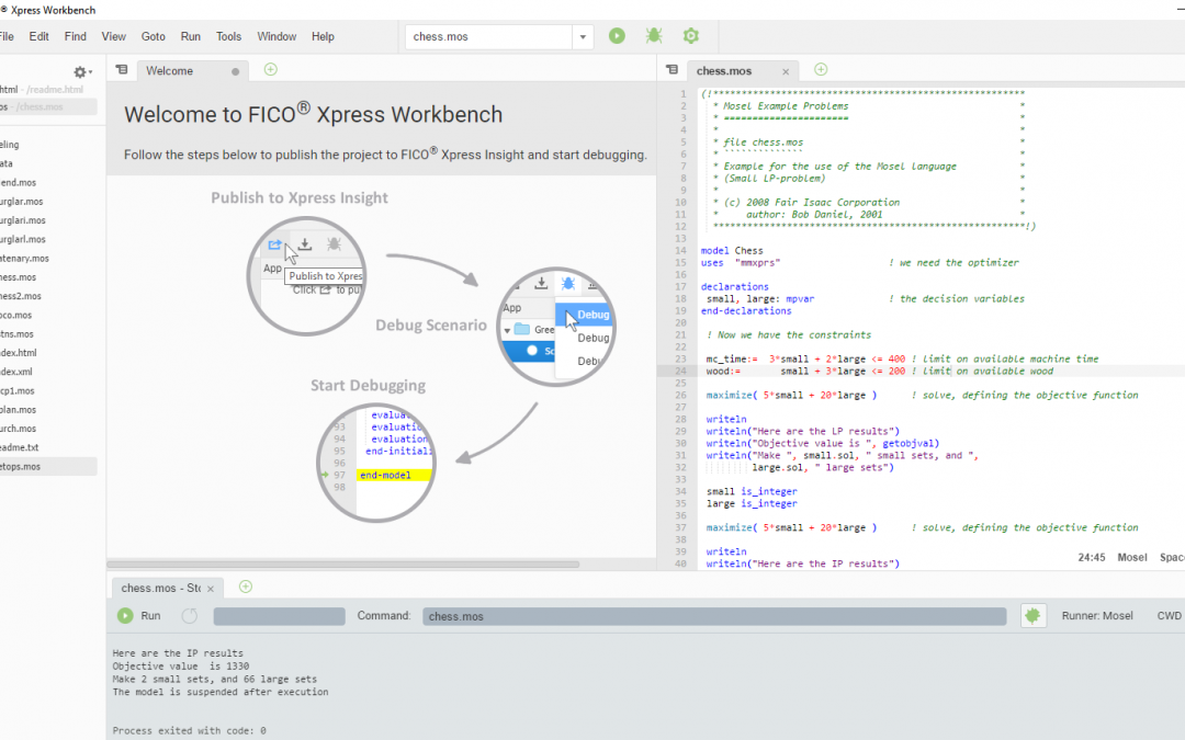 Discover Xpress 8.3 and its brand new integrated development environment