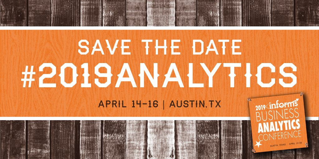 Meet Artelys at the 2019 INFORMS Business Analytics Conference - Artelys