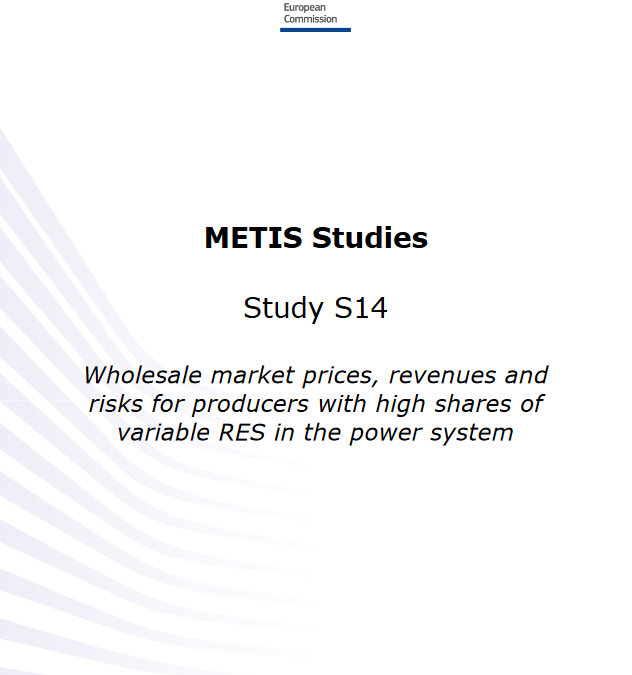 Wholesale market prices, revenues and risks for producers with high shares of variable RES in the power system
