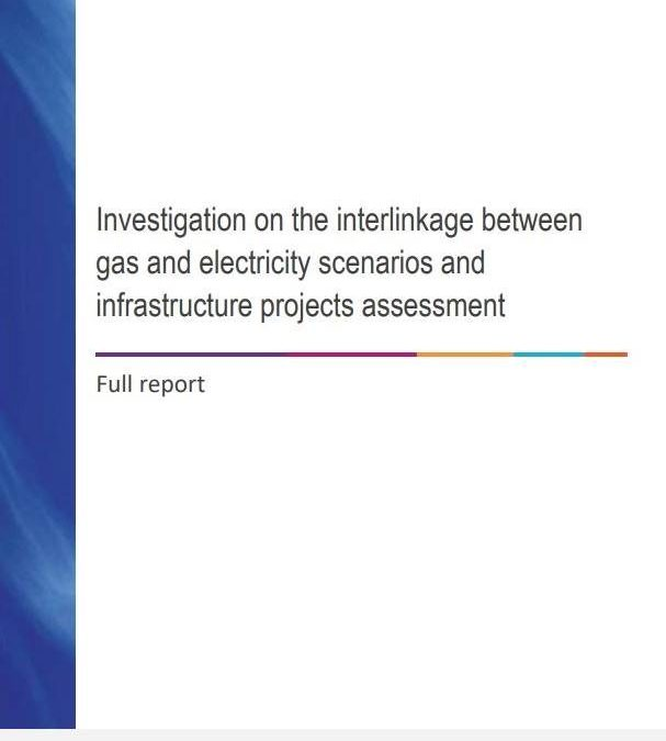 Investigation on the interlinkage between gas and electricity scenarios and infrastructure projects assessment