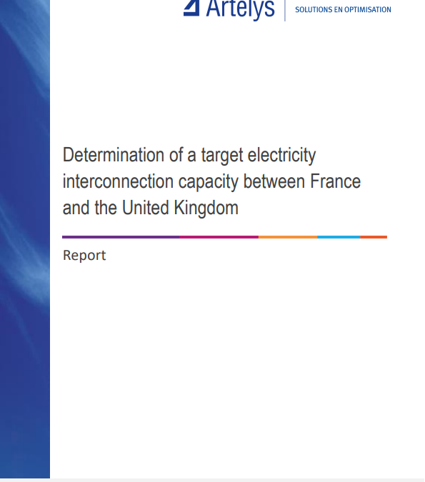 Determination of a target electricity interconnection capacity between France and  the United Kingdom
