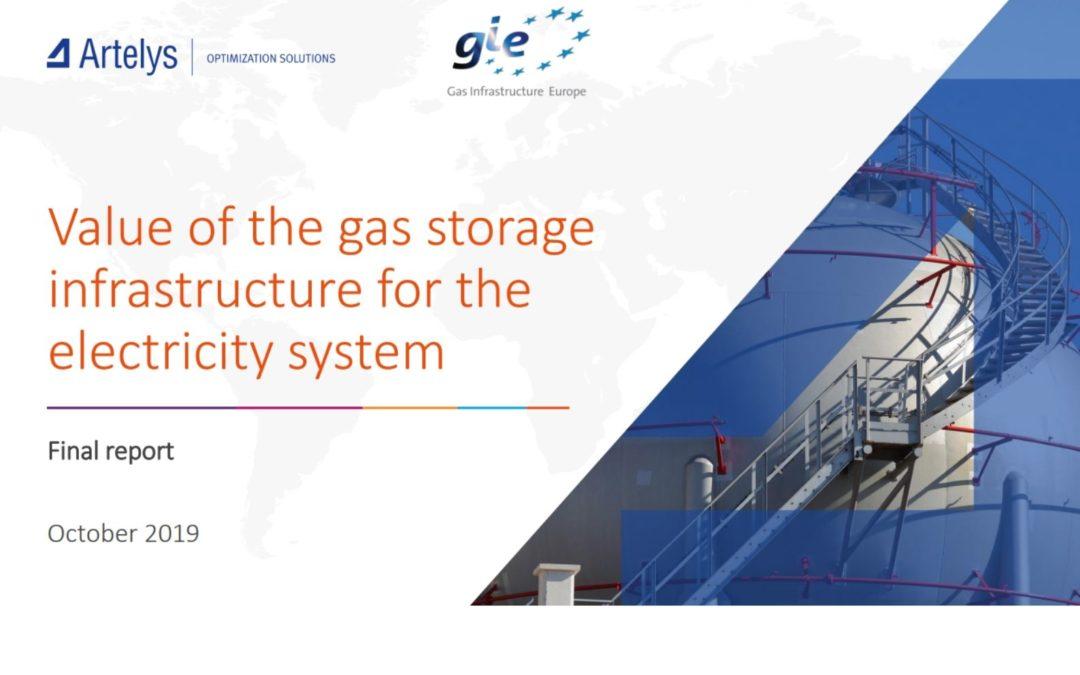 Valeur des infrastructures de stockage de gaz pour le système électrique