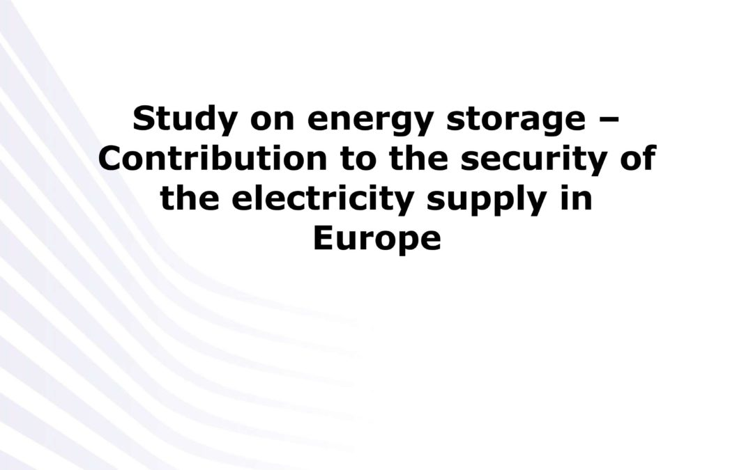 Contribution of energy storage to the security of the electricity supply in Europe