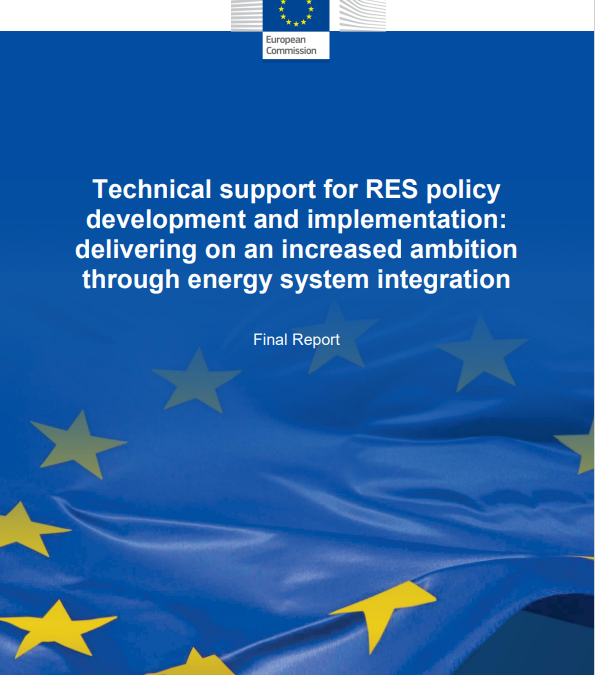 Technical support for RES policy development and implementation